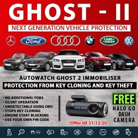Autowatch GHOST 2 Immobiliser Vehicle Security + FREE Dashcam inludes Fitting