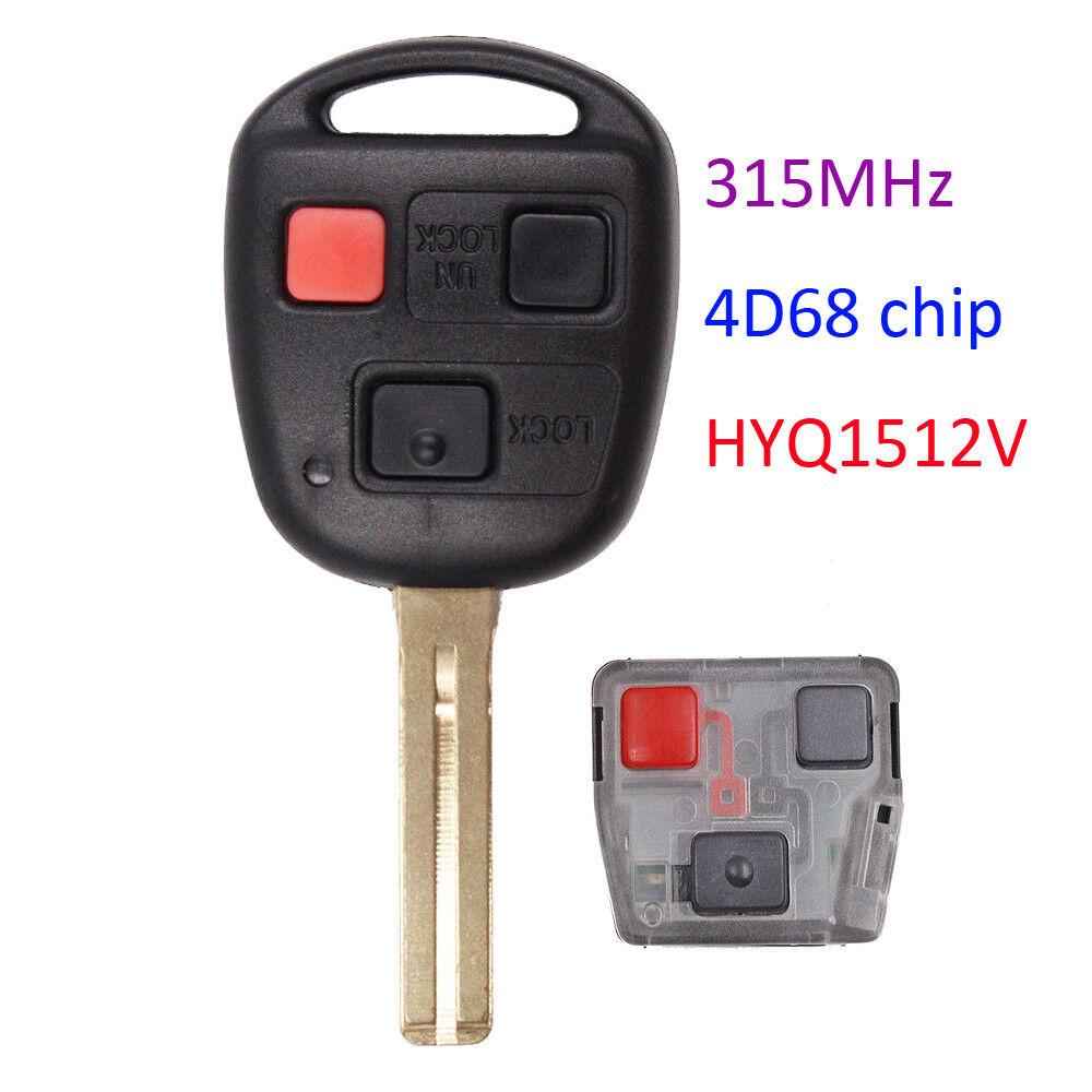 3 button 315mhz Keyless Entry Remote Key for GX470 LX470 HYQ1512V - Short Blade