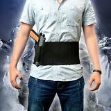 Tactical Adjustable Belly Band Waist Pistol Gun Holster &2 Magzine Pouches Black