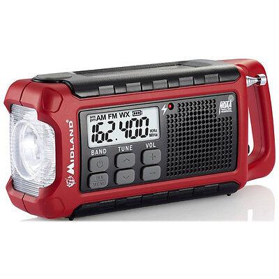 Midland E Ready Emergency Compact Weather Alert Radio Crank Solar Rechargeable