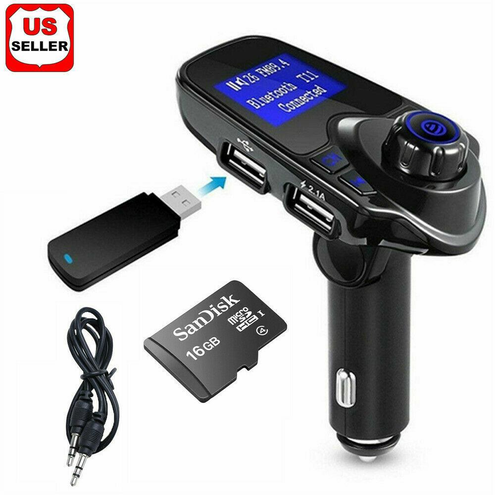 Car Cigar Plug Bluetooth FM Transmitter Radio MP3 Player Ada