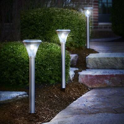The Best 2 Solar Walkway Light two natural white LEDs Pathway Stainless (The Best Solar Walkway Light)