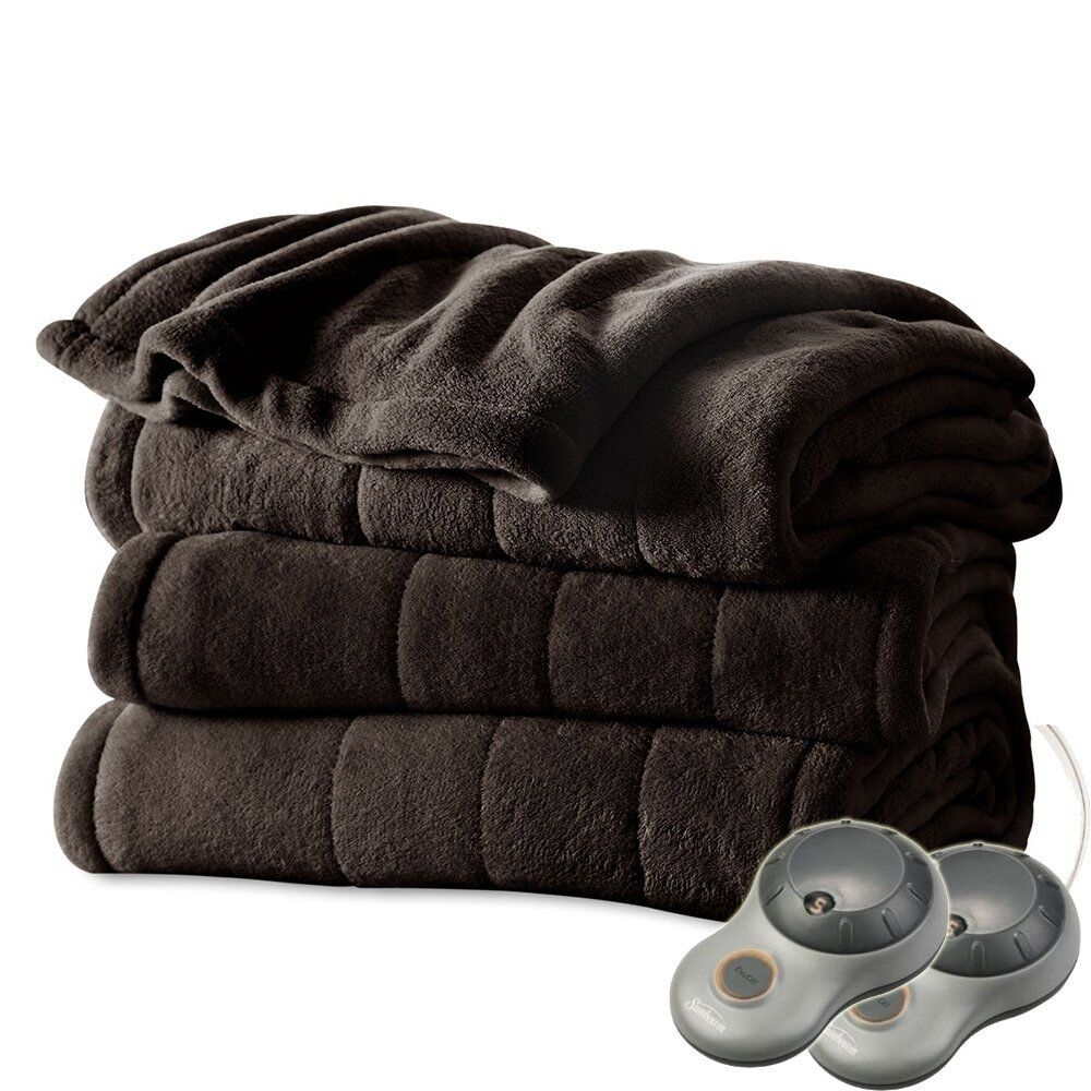 Electric Blanket Heated Under Luxury Single Double King Size Bed Washable Fleece