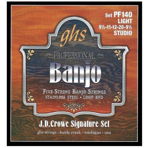 GHS PF140 JD Crowe Signature 5-String Stainless Steel Banjo Strings