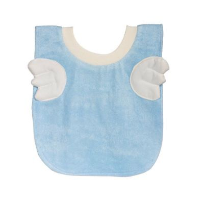 Cute Blue Angel Wings Dribble Bib for Babies & Toddlers Absorbent Stretchy Soft](Angel Wings For Toddler)
