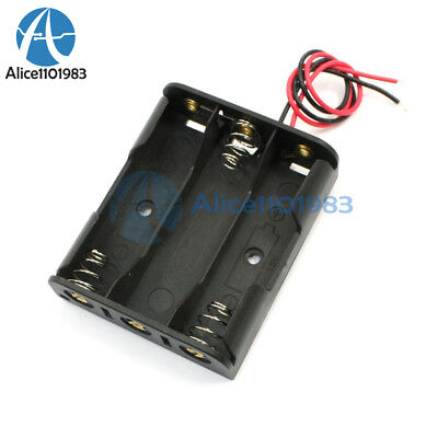 2pcs Plastic Battery Storage Case Box Holder For 3 X Aa 3xaa 4.5v Wire Leads