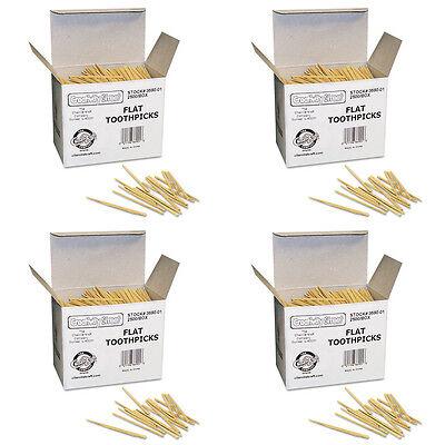 Chenille Kraft 369001 Flat Wood Toothpicks Wood Natural 2500/Pk (CKC369001) 4 Pa Chenille Kraft Flat Wood