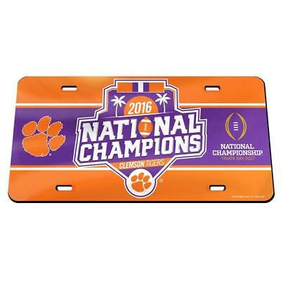 National Champions License Plate - NCAA 2016 Clemson Tigers National Champions Laser Cut License Plate