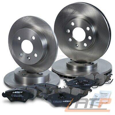 Bremsscheiben 4 Loch Bremsbeläge 2 Stück Spritzbleche für hinten* Opel Astra G