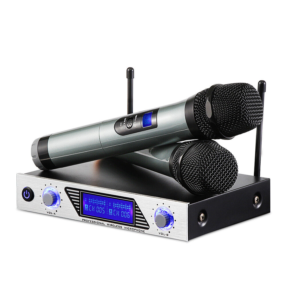 ARCHEER Dual Channel VHF Wireless Dual HandHeld Microphone S