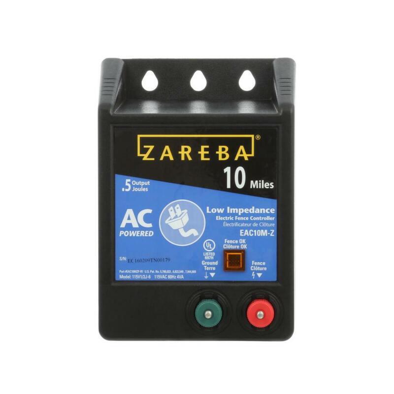 Zareba Electric Fence Controller 10-Mile Low Impedance Energizer Fuseless