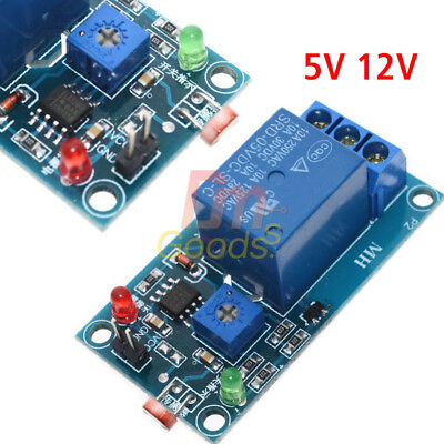 5/12V Relay Sensor Light Control Switch Photoresistor Module Detection -