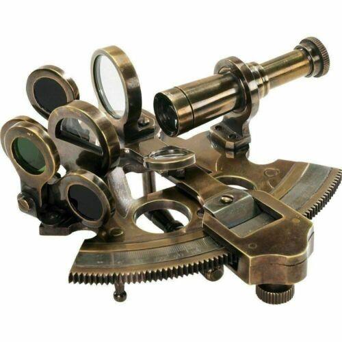 Nautical Antique Solid Brass Sextant Maritime Astrolabe Marine Sextant handmade