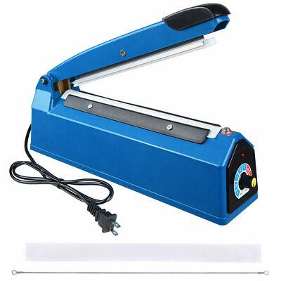 8 Heat Sealing Impulse Manual Sealer Machine Poly Tubing Plastic Bag Teflon