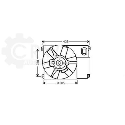 Fan Engine Cooling Radiator Fan Blower Motor Citroën Fiat Peugeot Boxer Box