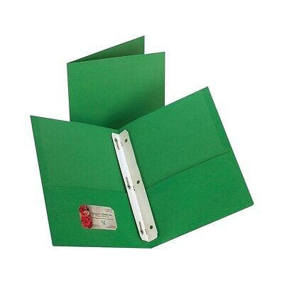 Staples 2-pocket Folder With Fasteners Green 10pk 13388-cc 435784