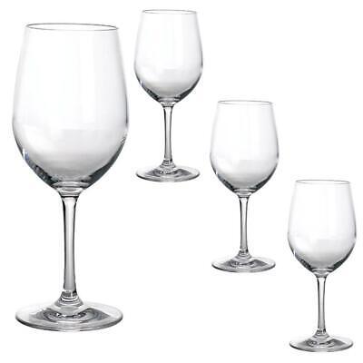 Gimex Camping Geschirr Weißweinglas Blow aus Kunststoff klar 4er Set 250ml