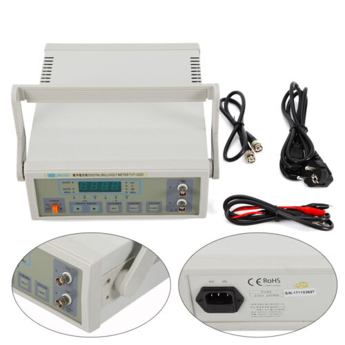 AC 220V LW-322D Auto/Manuell CH1/CH2 Digital Millivoltmeter