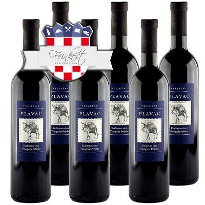 (EUR 8,89/L) 6x 0,75L Plavac Wein Badel trocken Rotwein aus Kroatien 6x 0,75L