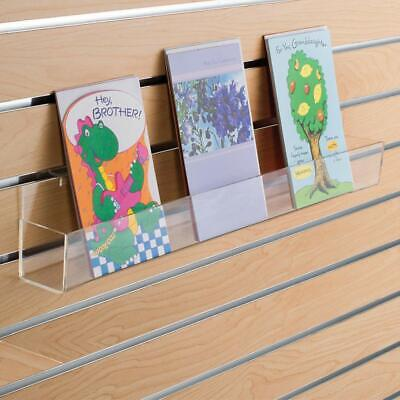 Greeting Card Display Shelf For Slatwall In Acrylic 24 W X 2.5 D Inch