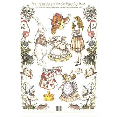 Shackman Alice In Wonderland And White Rabbit Paper Doll And Clothes Set #Shk-26