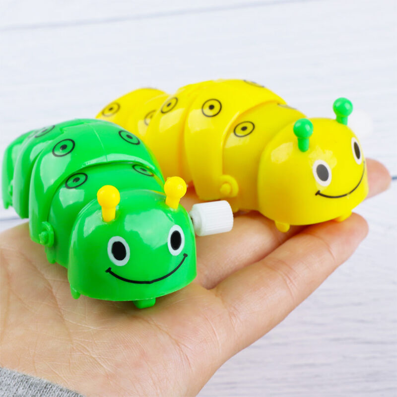 Lovely Caterpillar Shape Plastic Clockwork Toy Color Random Baby Classical Toy