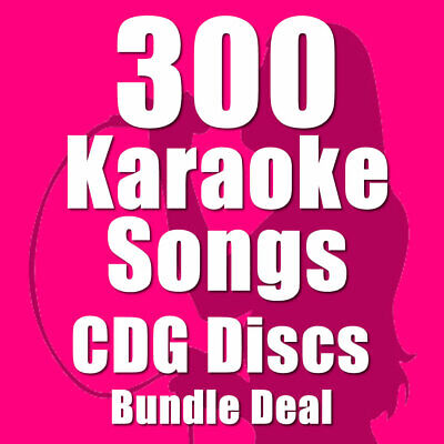 Karaoke Disc Set Bundle CDG CD+G Chart Hits 300 Top Chart Hits 16 Disc Set E