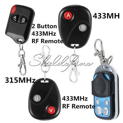Wireless 315MHz/433MHz 2/4Buttons RF Remote Control Garage Gate Door Transmitter