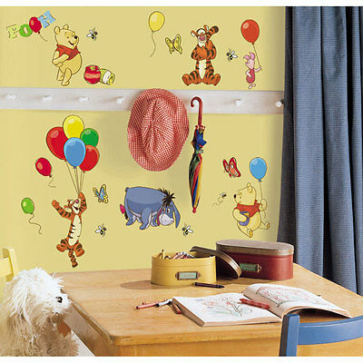WINNIE POOH 38 Wall Stickers Nursery Baby Children Bedroom Kids Decor Classroom