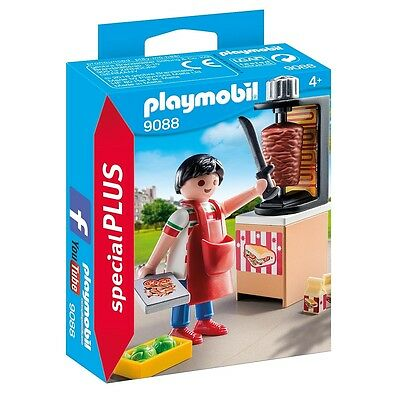 Playmobil Special Plus 9088 Kebab Street Vender Grill Food NEW BOXED Worldwide
