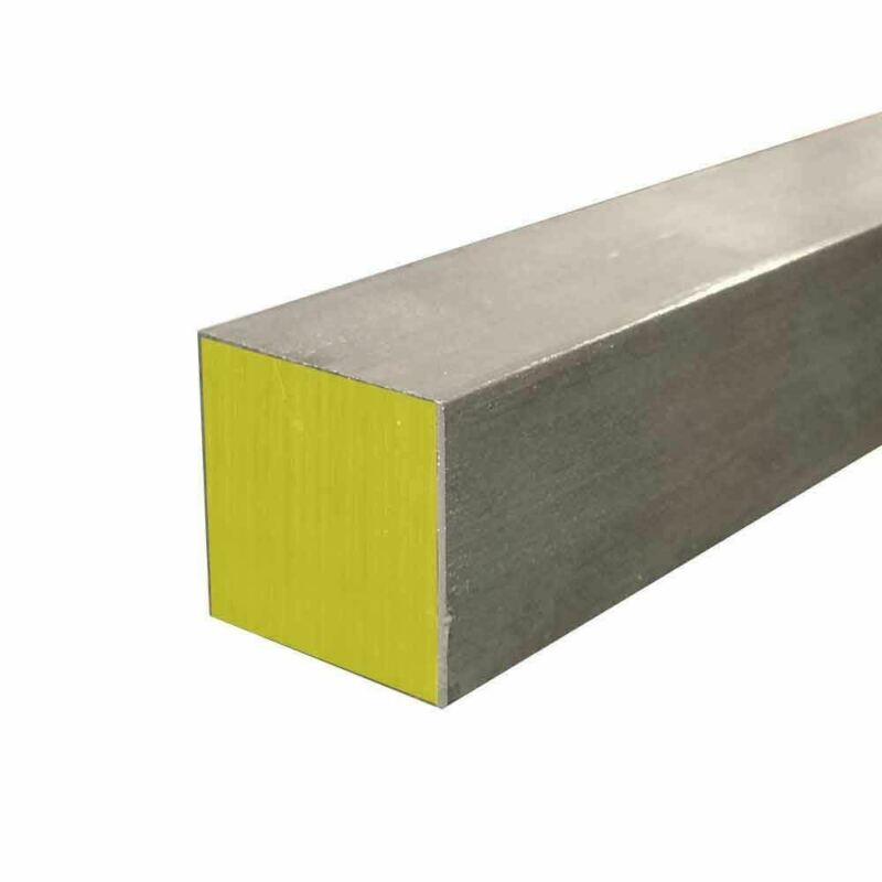 "316 Stainless Steel Square Bar, 2"" x 2"" x 12"""