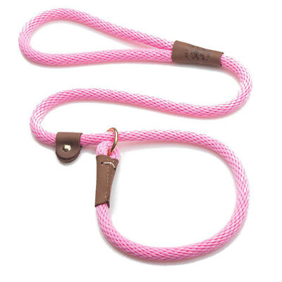 Mendota - Dog Puppy Leash - British Style Slip Lead - Hot Pink - 4, 6 Foot Hot Pink Dog Leash