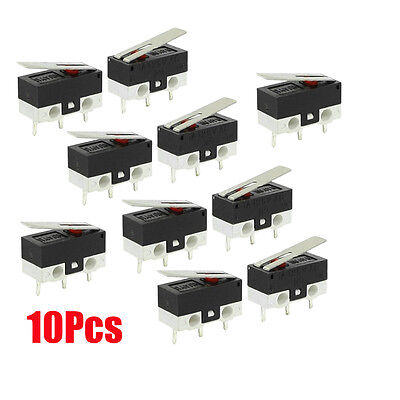 10 Pcs 1no 1nc Spdt Momentary Long Hinge Lever Micro Switches Ac 125v 1a Cp