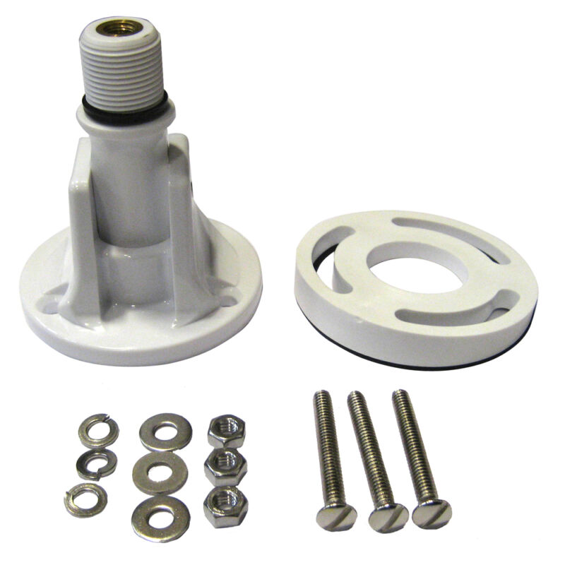 Shakespeare 495B Lift N Lay Marine Boat Antenna Deck Mount and Leveling Plate