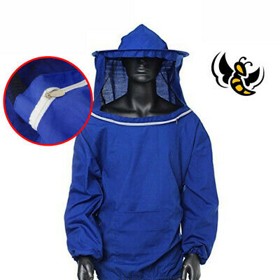 Full Body Anti-bee Suit Beekeeping Clothing Cotton Veil Hood Protective