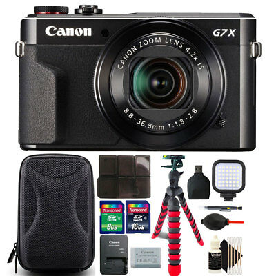 Canon PowerShot G7 X Mark II 20.1MP Digital Camera with 24GB Accessory Bundle