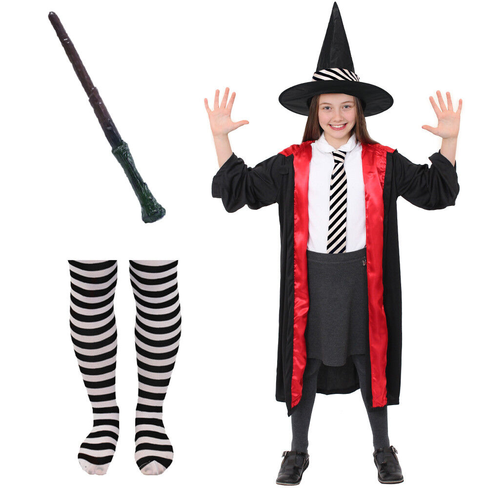Childs Worst Witch Costume Girls World Book Day Fancy Dress Outfit Halloween Ebay