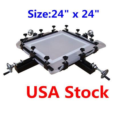 Usa High Precise 24 X 24 Screen Stretching Machine Screen Printing Stretcher