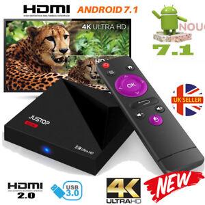 2017 A5X Quad Core Android 7.1 Nougat TV Box HDMI Media Player 4K HD WIFI 17 NEW