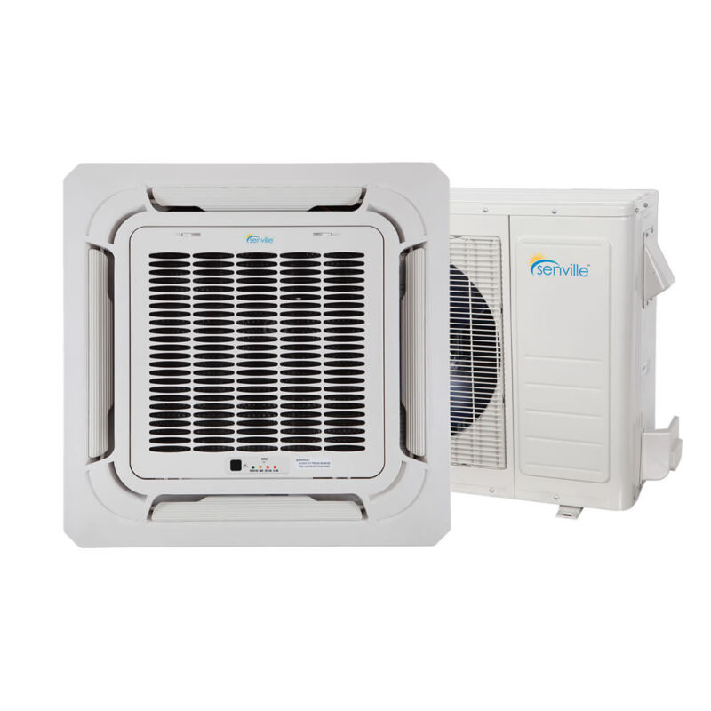 18000 Btu Ductless Mini Split Air Conditioner - Ceiling Cassette - 1.5 Ton
