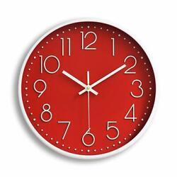 12 30cm Fashion Wall Clock Black Large Digital Silent No Ticking Red US