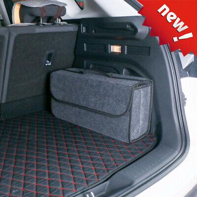 Car Boot Organizer Large Carpet Storage Bag Tools Travel Tidy Hook Loop...