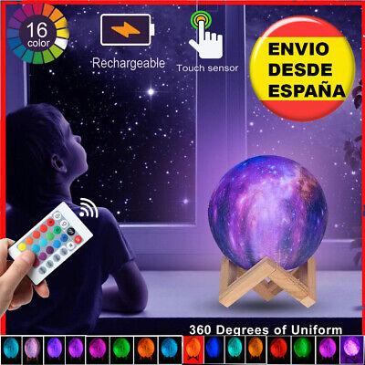 LAMPARA LUNA 3D ( 12cm) CON 16 COLORES Y MANDO A DISTANCIA