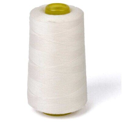 6000 Yards Quality Overlocking Sewing Machine Polyester Thread Cones, White