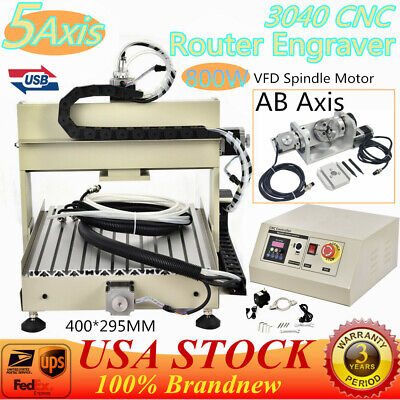 3040 5 Axis Cnc Router Engraver Milling Machine Ball Screw 800w Vfd Motor Usb