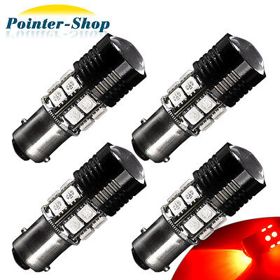 4x High Power 7W 1157 BAY15D 7528 2057 Red LED Car Tail Brake Stop Light Bulbs Car Tail Brake