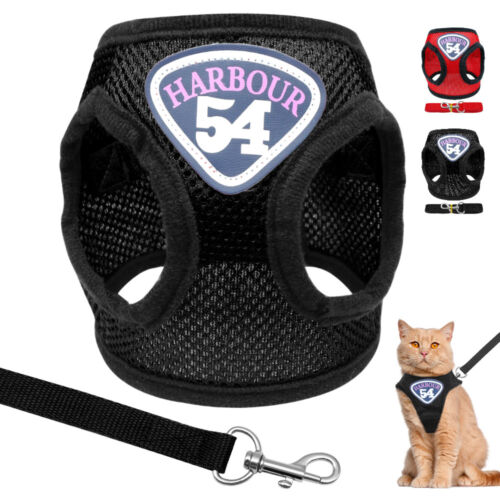 Cat Vest Harness and Leash Mesh for Walking Escape Proof Dog