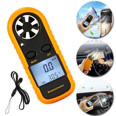 Handheld Digital Lcd Air Wind Speed Anemometer Temperature Gauge Meter Tester Us