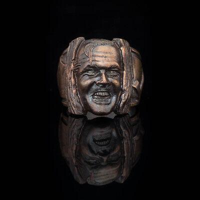 The Shining Horror Ring, bronze, handmade ... jack torrance ring, halloween gift ()