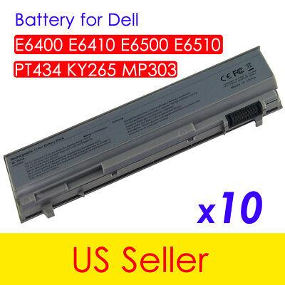 10pcs Replacement Battery For Dell Latitude E6500 E6510 PT434 E6400 E6410